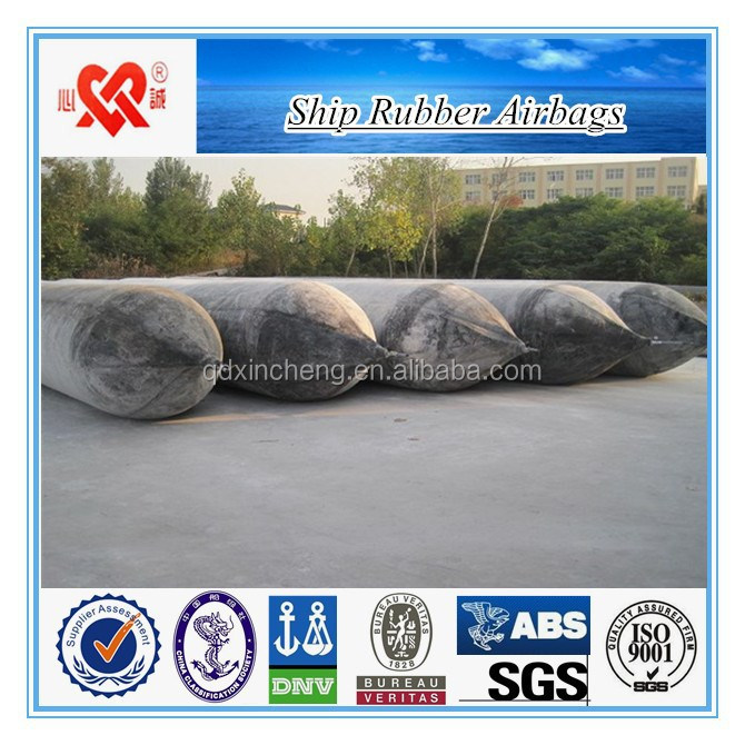 High buoyancy floating pontoon for boat launching ship rubber airbag