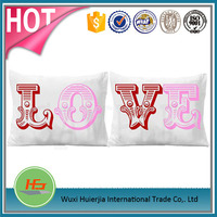 Cute printing couple pillow cover/cushion cover/pillow case