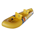 12ft 370cm White Water Yellow Color Fishing Kayak Boat Inflatable With Paddle