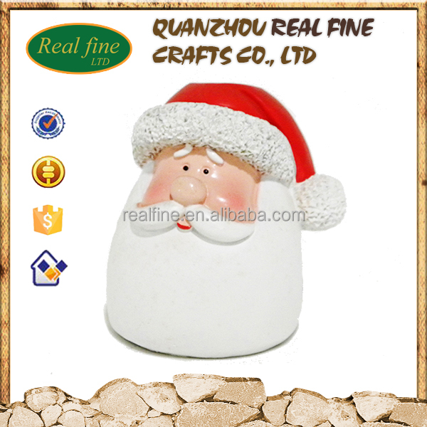 Hot Sale Resin Santa Claus head for Christmas decoration