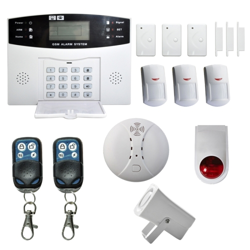 2016 Hot sale factory YA-500-GSM-7 Wireless GSM SMS Security Home House Burglar Alarm System With LCD Screen