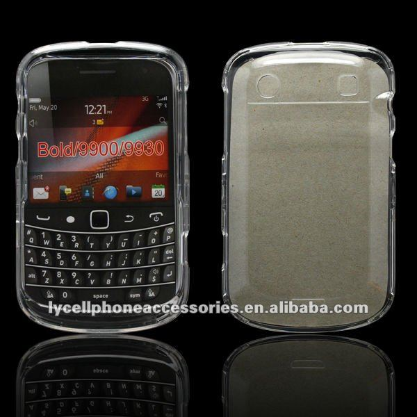 Transparent crystal hard case For Blackberry Bold 9900 9930