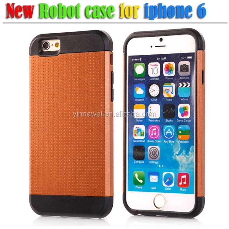 Armor metal robot phone case for iphone6,mobile phone case making machine