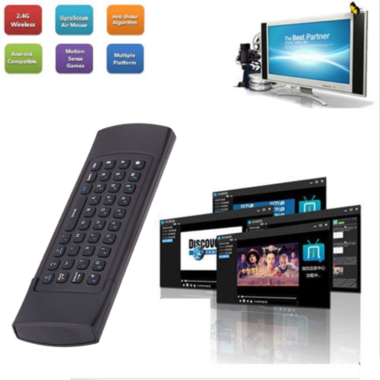 Exquisite T3 2.4GHz Wireless Remote Control and keyboard mini wireless keyboard