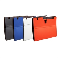 Plastic 3 ring zipper binder file folder nice design