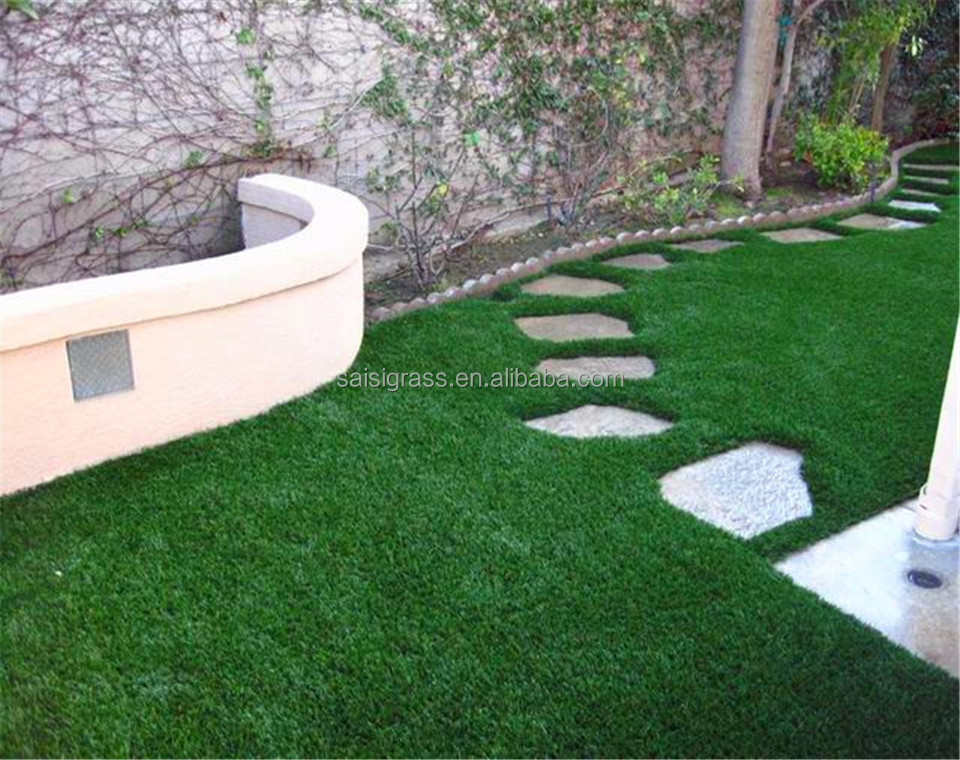 Home use outdoor laying S shape synthetic grass