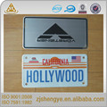 american decorative funny aluminum embossed promotional gift car license plate