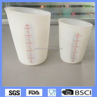 Wholesales Factory price collapsible silicone 500ml&250ml measuring cup