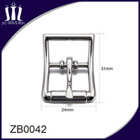 H shape silver belt buckle hook for men