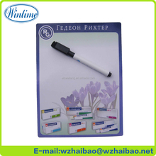 paper writing fridge magnet notepad with pen