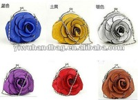 Hot Sell PU Leather Rose Coin Purse