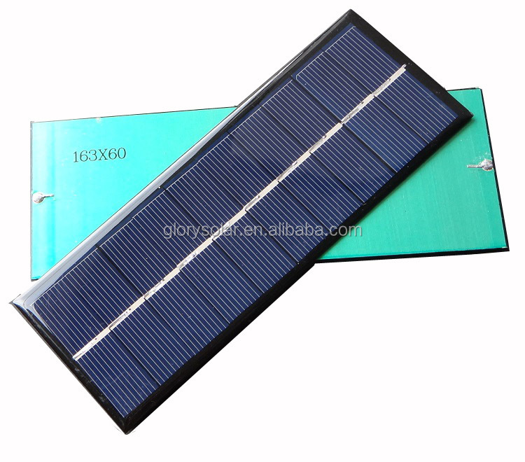 China Factory Offer Customized Cheap Solar Panel For India Market 1.3W 5V 260mA 163*60*3MM Small Solar Panel Customization