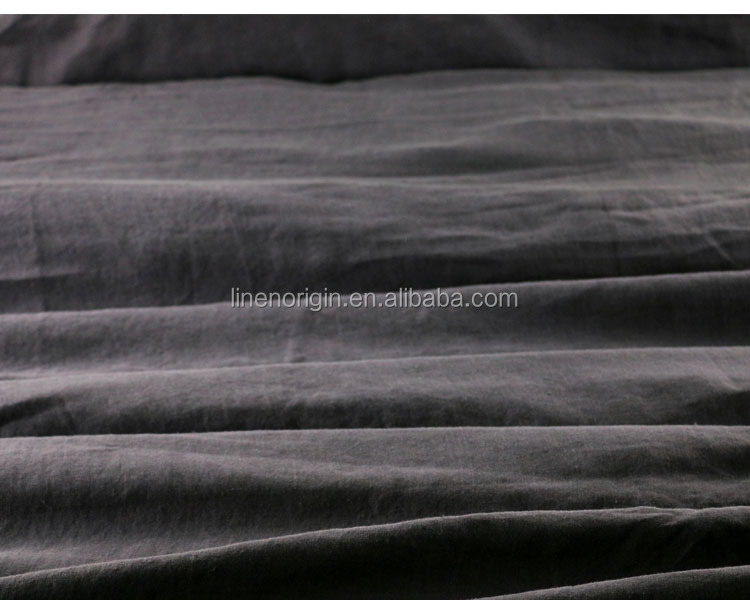 stone wash linen fabric for bedding sheet