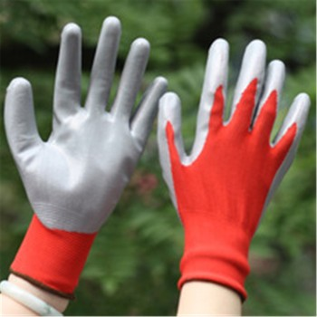Brand MHR High-technology foam finish nitrile glove dotted safety gloves /working glove