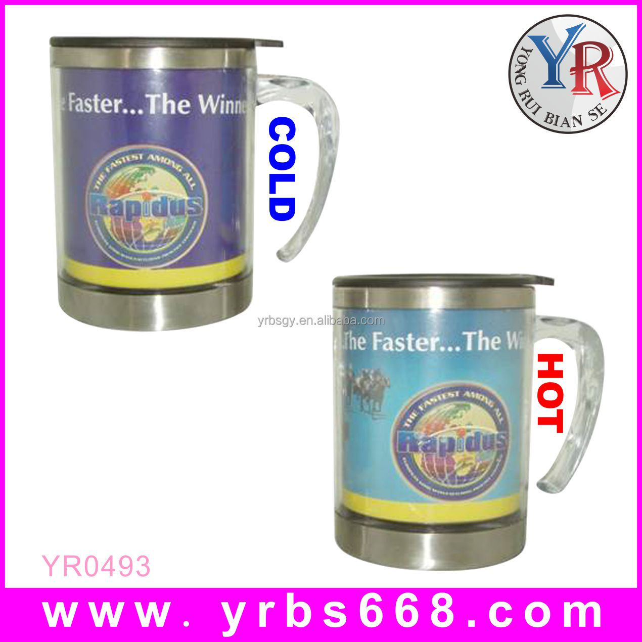 Professional manufacture custom stainless steel travel mug inserts