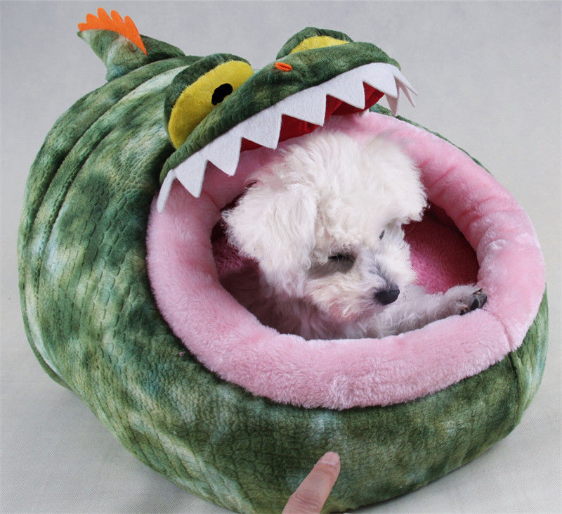 Cute Creative Animal Shaped Soft Warm Pet Dog House Bed 3 Sizes Free Shipping
