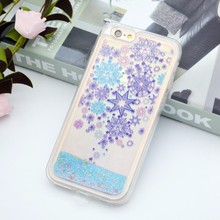 new inventions in china phone accessories mobile Flower pattern Quicksand cell phone case for iphone 7