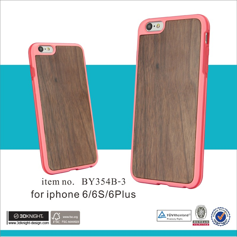 2016 Newest Fashion Cute Candy Colors TPU wood Phone Cases Back Covers For Apple iphone 6 Case 4.7 inch