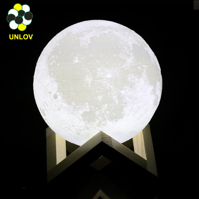 Moon Shape Indoor LED Wall Moon Lamp With Remote Control Relaxing Healing Moon Night Light
