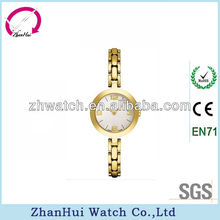2013 lady watch stainless steel vogue watch made in China factory gold imitation lady bangle watch fashionable and pretty