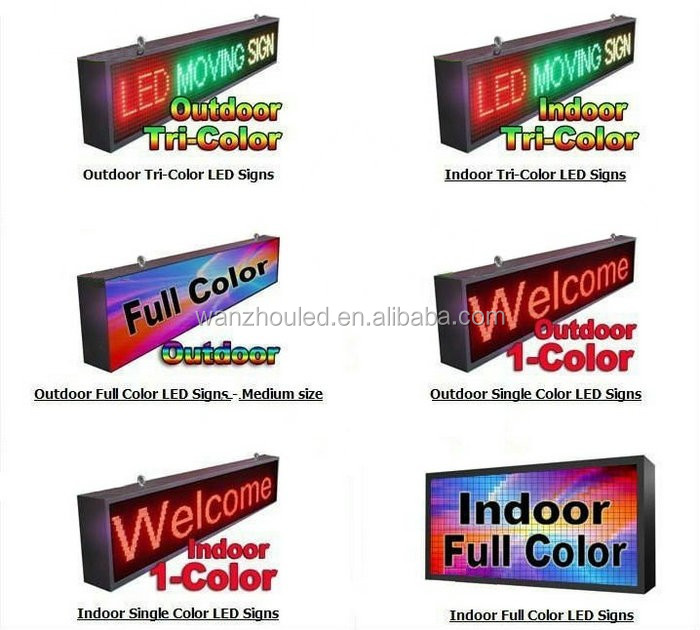 CE Certification 3G/WIFI/Remote Control Full Color P10 Message Moving LED Sign