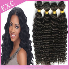 cheap virgin malaysian curly hair deep curl , natural color , top grade human hair extension