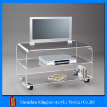 High Quality clear acrylic tv stand table