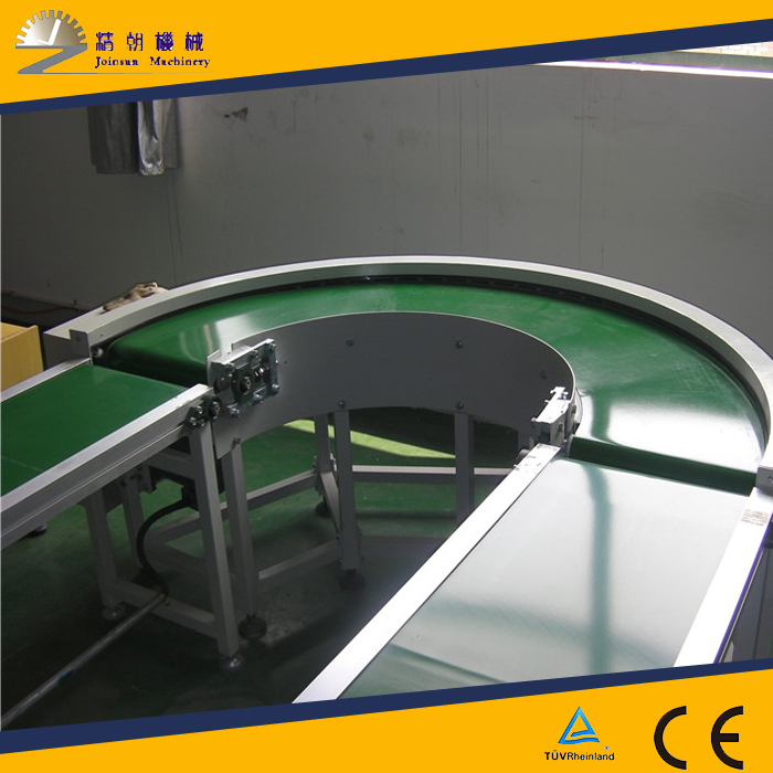 stainless steel 180 degree transport curve belt conveyor