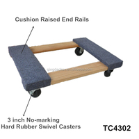 4 wheel wooden pallet dolly TC4302