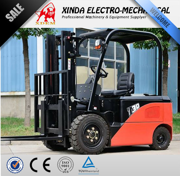 XDEM JJCC Forklift 3 Tons Battery Electric type CPD30 manual Stacker Hand Operated Forklft Truck