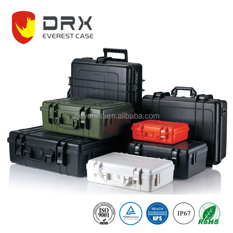 military hard case with foam plastic box