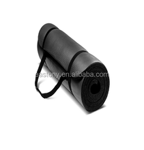 EASTONY Black Extra Thick Foam Exercise Mat Workout Mat Yoga Mat