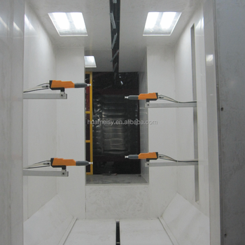 fast color change electrostatic PVC powder coating spray booth