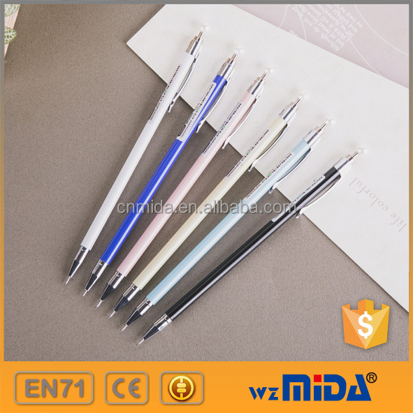 pearl cap slim metal automatic pencils with factory price MD-H1015