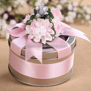 More Colors Wedding Box/ Gift Round Metal Candy Box