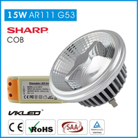 High Power Cob led lights ar111 G53 15w 2700K, ar111 regulable lampara led