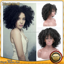 Peruvian Virgin Afro Kinky Wig Short Curly Hair 130 Density 100% Human Hair Glueless Front Lace Kinky Curly Wigs For Black Women