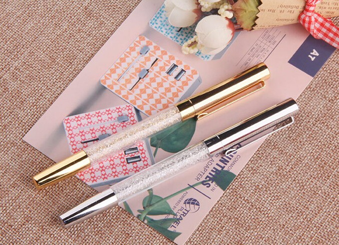 New design metal crystal roller pen gel pens for christmas gifts&wedding gifts