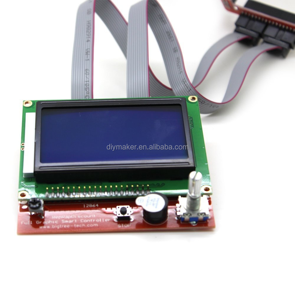 New 1 x LCD12864 Controller + 1 x Switch Board + 2 x 30cm Cable LCD Control Panel 3D Printer Controller Display