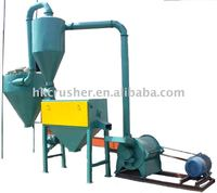 Wood powder mill for fiber type, brittle material and flexible material