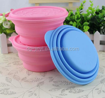 New design silicone folding bowl silicone collapsible bowl with lid