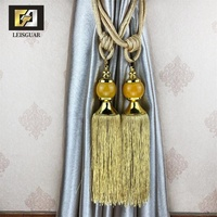 Classic Design Tassel Crystal Hanging Ball Decorative Tie Back Curtain Tieback