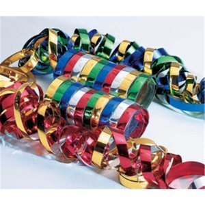 Metallic Paper Serpentines Streamer For Decoration