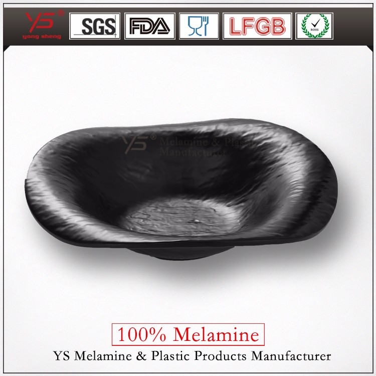 Guangzhou professional 100% melamine black dinner plates