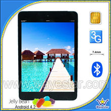 7.85 inch IPS Quad Core GPS Android 4.2 Tablet PC with Micro sim card slot HDMI Build in 3G