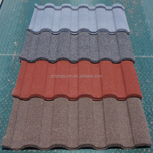 tongyuan fireproof/fire-resistant stone coated metal roof tile/roof gardening