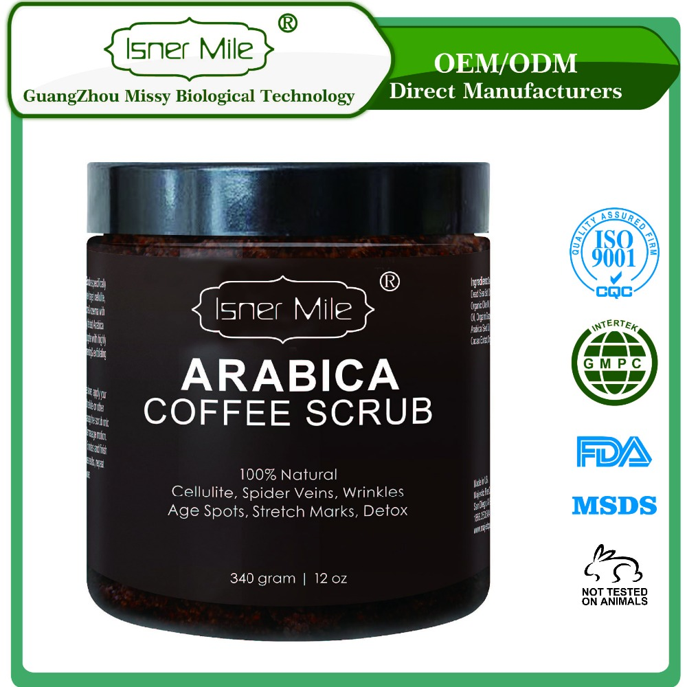 [MISSY] OEM/ODM Natural Organic Arabica Coffee Body Scrub Exfoliator in private label