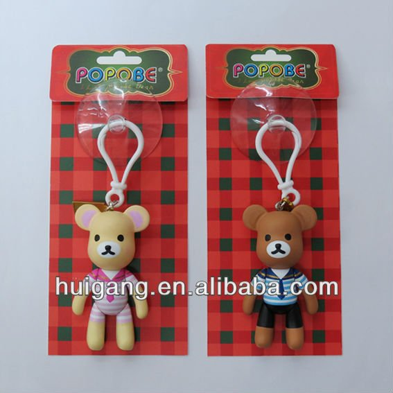 Popobe plastic toy bear car interior decoration popular car accessory pendant toy