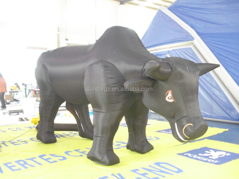 Factory price advertising display inflatable black bull model