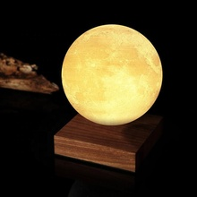 Christmas Magic floating led moon night light Gift Decorative 3d moon lamp Magnetic Levitating moon light
